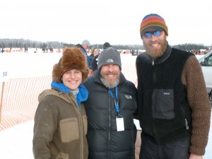 Me with musher Mike Ellis and his wife Sue