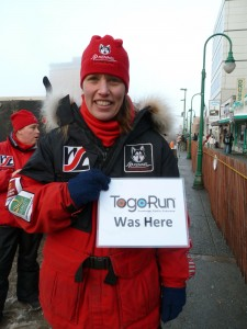 Aliy Zirkle shows a little Togo Run love